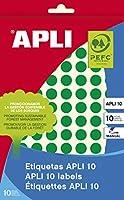 【APLI】手書き丸カラーラベル 126片 (AP-02733)