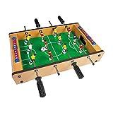 Global Gizmos 80380 Table Top Foosball Set | Mini Football Game | 6-A-Side | Lightweight & Portable | 51cm x 31cm