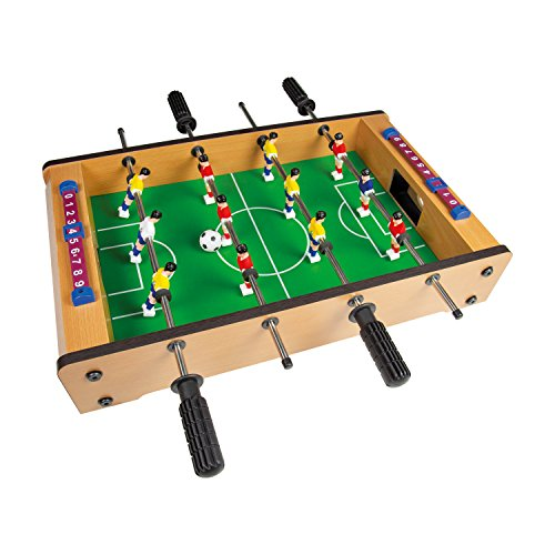 Global Gizmos 80380 Table Top Foosball Set | Mini Football Game | 6-A-Side | Lightweight & Portable | 51cm x 31cm