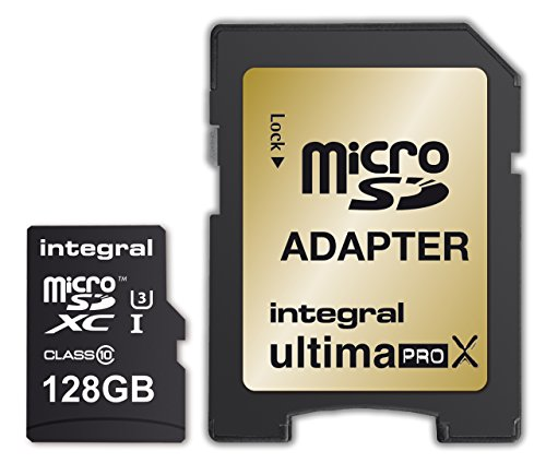 Integral 128GB microSDXC Speicherkarte Klasse 10 UHS-I - Speicherkarten (128 GB, MicroSDXC, Klasse 10, UHS-I, 95 MB/s, Schwarz, Gold)