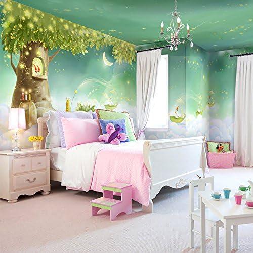 Wanpaper Tapeten Vlies Mädchen Kinderzimmer Schlafzimmer Elfen Dekorative Gemälde Cartoon Wandmalereien 430 280 Cm Baumarkt
