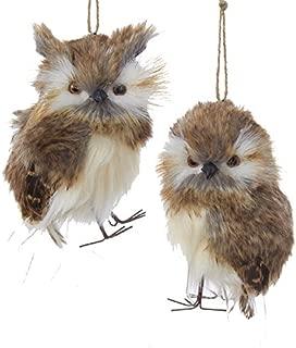 Kurt Adler Plush Brown Owl Ornament