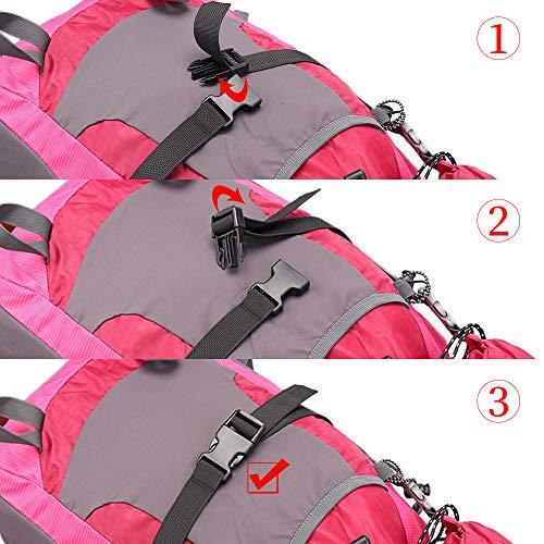 JETEDC2.5cmMolleスーツケースベルト荷崩れ防止調整可能梱包バンド(深いカーキ-4pcs,200cm)