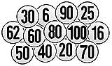 Selbstklebendes Geschwindigkeitsschild für Deutschland – mit 6, 16, 20, 25, 30, 40, 50, 80, 90 oder 100 km/h zur Auswahl - Aufkleber nach §58 StVZO - LKW Traktor PKW Anhänger Zugmaschinen - (100 km/h)