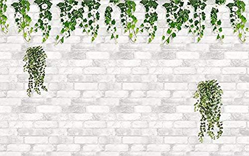 Giardino Del Muro Di Mattoni Della Vite Del Fiore Fresko Wanddekoration fototapete 3d Tapete effekt Vlies wandbild Schlafzimmer-300cm×210cm