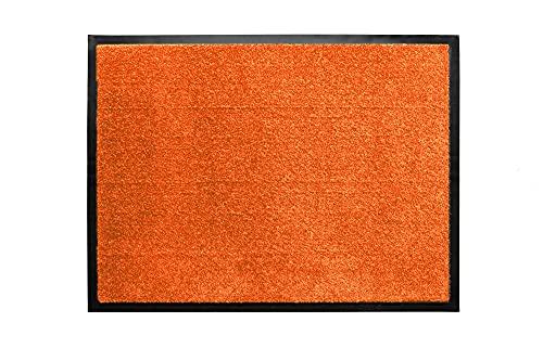 Tesar - Felpudo Norton Resistente Entrada a casa   Alfombra Exterior para Puerta Entrada casa, Impermeable, Lavable, Acolchado, Antideslizante, Pasillo, Cocina, Dormitorio (Naranja, 40 x 60 cm)