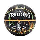 Spalding NBA Marble Mc - Balón de baloncesto, color Multi/negro., tamaño 7