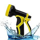 Pistola De Riego,Pistola De Agua para Manguera De Jardín,9 modos ajustables, diseño antideslizante, adecuado para regar plantas, rociar césped, lavado de autos, baño de mascotas