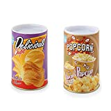 TJYONGHI The Potato Chip Snake Can Jump Spring Snake Toy Gift April Fool Day Halloween Party Decoration Jokes in A Can Gag Gift Prank,Potato Chip Style ,Popcorn 2 Pieces