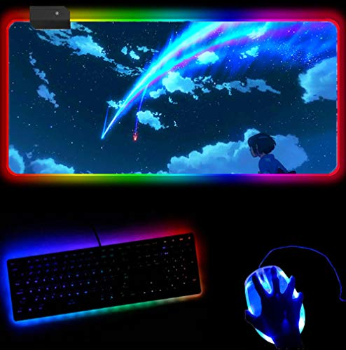 RGB Mouse Pad Your Name Mouse Pad Anime Pad to Mouse Notebook Computer...