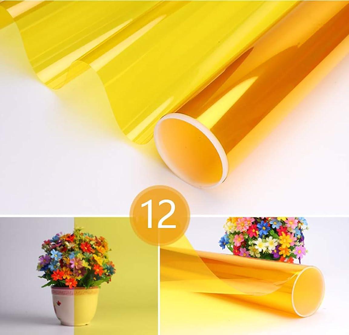 め言葉トリッキー協同自己接着 色 ウィンドウフィルム、 100%遮光 飾る 熱制御 アンチUV ガラスの色合い- に最適 自宅および会社のオフィスの窓,12,120x100cm