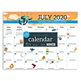 Every Day's A Holiday Large 17 x 22 Desk Pad Monthly Blotter Calendar (July 2020 - June 2021)