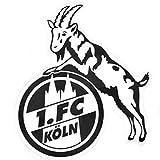 1. FC Köln Aufkleber - Hennes schwarz 8 cm - Autoaufkleber, Sticker - Plus Lesezeichen I Love Köln