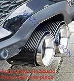 MAX Carbon 1 Stück Carbon Auspuffblenden Endrohrblenden passend für MINI ONE S Cabrio Cooper S JCW F55 F56 F57 Clubman Countryman