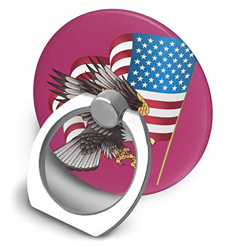 Multi-Function 360 Degree Rotating Phone Finger Ring Stand United States Flag Eagle Grip Mounts Holder for iPhone Smartphones Tablet