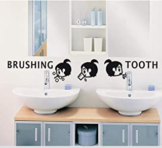 girl brushing teeth cartoon