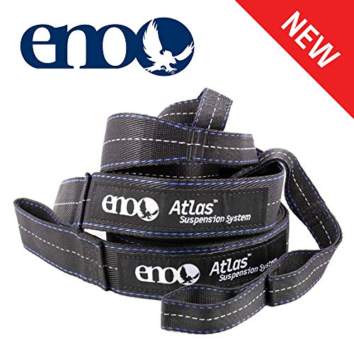 ENO, Eagles Nest Outfitters Atlas Hammock Straps, Suspension System with Storage Bag, 400 LB Capacity, 9' x 1.5/.75'