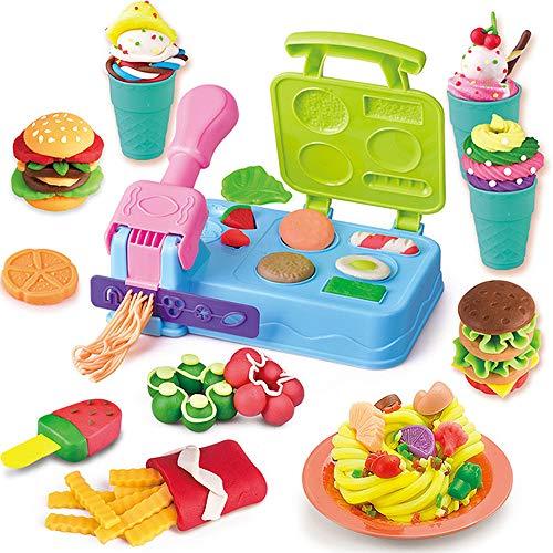 DIY Kinderen Plasticine Mold Set, Kinderen Clay Toys, Burger Machine Kleur Mud Zoals, 3-6 Jaar Oud Speelgoed Voor Kinderen