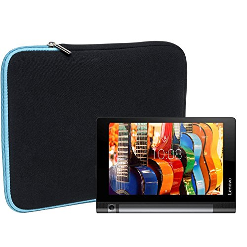 Slabo Funda Universal para Lenovo Yoga Tab 3 (10 Zoll) / Lenovo Yoga Book Funda Protectora de Neopreno - Turquesa/Negro