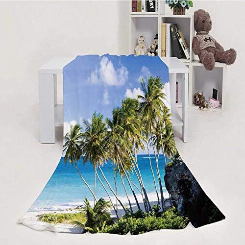 EATGE Bottom Bay,Flannel Fleece Throw Blanket, Weight Super Soft Cozy PBed Blanket Barbados 50' X 60'