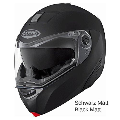 Caberg Klapphelm Modus Matt Schwarz Motorrad Helm, 30870017, Größe S (55/56 cm)