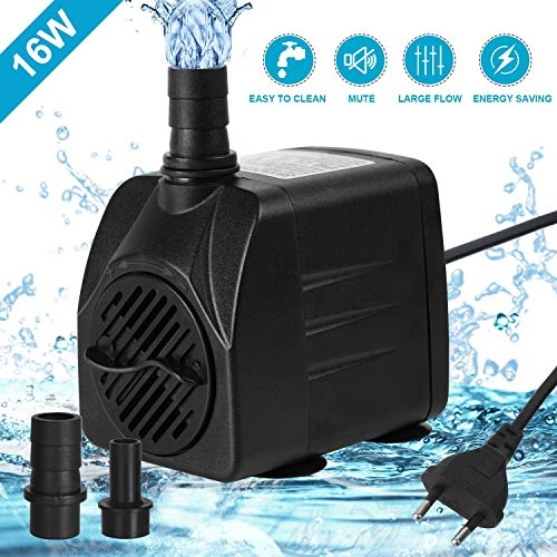 flintronic Pompe Eau Submersible, 800L/H 16W Pompe Aquarium...