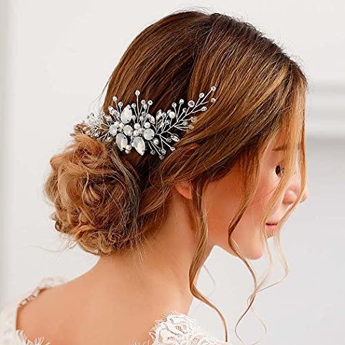 Zoestar Peineta para el pelo de boda con diamantes de imitación de...