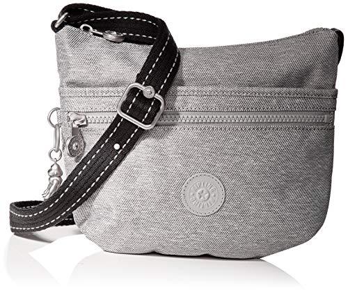 Kipling Damen Arto S Umhängetasche, Grau (Chalk Grey), 25x21x3 Centimeters