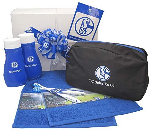 VonBueren Schalke Geschenk mit gefüllter Kulturtasche 5-TLG. in Geschenkbox