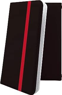 AQUOS R2 compact/SH-M09 ケース 手帳型 レッド 赤 朱色 おしゃれ アクオスアール コンパクト アクオスアール2 アクオスコンパクト 手帳型ケース かっこいい aquosr2 shm09 aquosr2compact ボーダー マルチストライプ