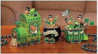 Celebrating Leprechaun Express Train St Patrick's Day Tabletop Home Accent Decoration