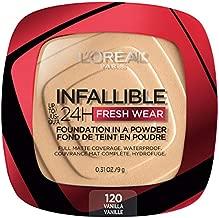L'Oreal Paris Infallible Fresh Wear Foundation in a Powder, Up to 24H Wear, 120 Vanilla, 0.31 Fl Oz