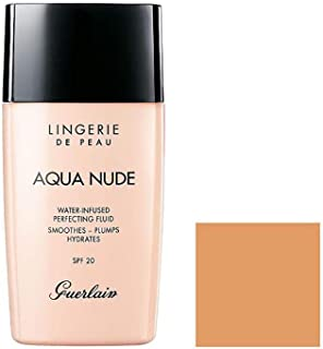 Guerlain Lingerie de Peau Aqua Nude Foundation SPF 20-04N Medium for Women - 1 oz