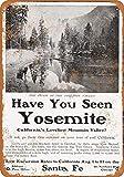 1903年のサンタフェ鉄道からヨセミテ渓谷へのヴィンテージ風ファッションノベルティ楽しいサイン