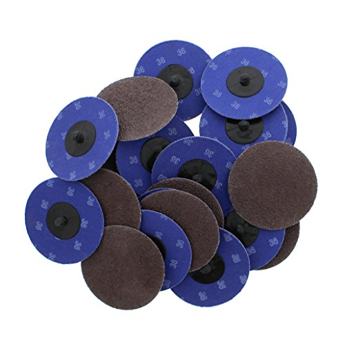 ABN Aluminum Oxide Sanding Discs 25-Pack, 3in, 36 Grit - Metal Sanding Wheels for Surface Prep and Finishing Work