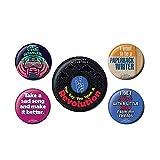Lennon & McCartney - Juego de 5 piezas de botones