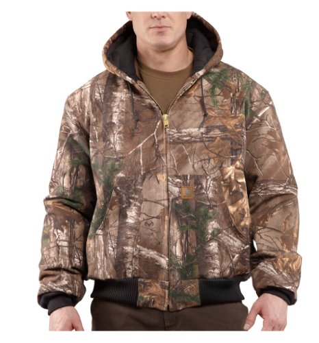 Carhartt Men's Quilted Flannel Lined Camo Active Jacket,Realtree Xtra,XX-Large