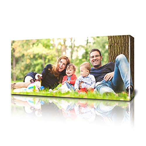 Fabness 12 x 40' Personalized Canvas Pictures: Canvas Prints With Your Photos, Custom Photo Printing Made Into Custom Canvas Wall Art Decor, Great For Your Favorite Picture, Long Rectangle Canvases