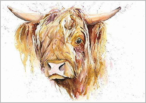 5D DIY Diamond Painting Highland Cattle Rhinestone Picture Art Craft Home Wall Decoration Gift30x45cm Full round drill
