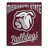 NORTHWEST NCAA Mississippi State Bulldogs Raschel Throw Blanket, 50' x 60', Alumni