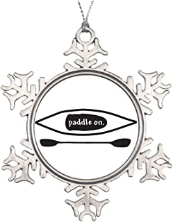 Larmai Kayak and Paddle Simple Black Line Art Design for Sale Boating Christmas Decoration Snowflake Ornament Housewarming Gift for Man Women