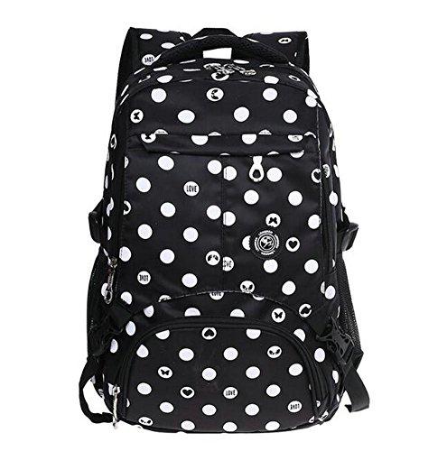 Da.Wa Fille Sac à Dos élèves Sac à Dos Sacs Voyage Nylon Tissu Imperméable Mode des sacs