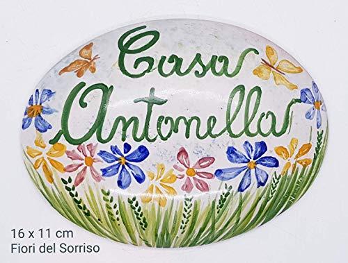 Targhe Numeri Civici Insegne Porta Ingresso Ceramica Realizzato e dipinto a mano Le Ceramiche del Castello Nina Palomba Made in Italy