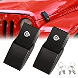 RT-TCZ Stainless Steel Hood Latches Hood Lock Catch Latches Kit for Jeep...
