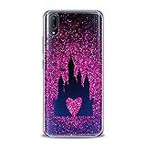 Lex Altern TPU Case Compatible with Vivo V15 Pro V11 V9 V7 Plus V5 V3 X23 X21 X9 Nex Smooth Confetti Castle Slim fit Princess Soft Lightweight Cover Pattern Print Design Clear Pink HeBeautiful Art