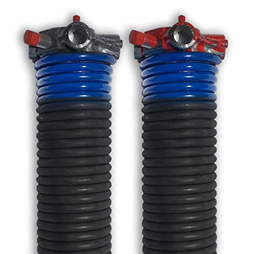 "DURA-LIFT .262 x 2"" x 44"" Torsion Garage Springs (Blue, Left & Right Wound)"