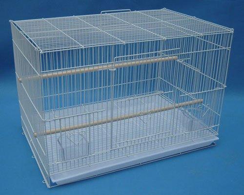 "Mcage Aviary Breeding Bird Finch Parakeet Finch Flight Cage 24"" x 16"" x 16"" White"
