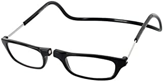 Clic Magnetic Regular Size Reading Glasses in Black