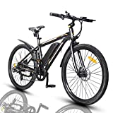 ECOTRIC 26' Electric City Bicycle Ebike with 350W Brushless Rear Motor, 36V/9AH Removable Lithium Battery, Throttle&Pedal Assist, Disc...