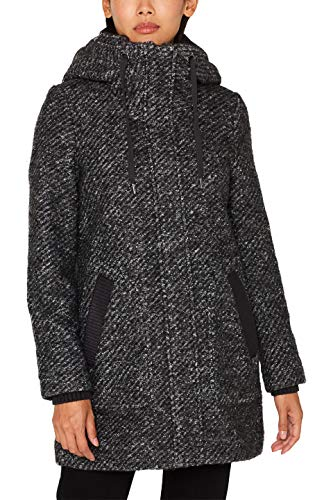 ESPRIT Damen 099Ee1G071S Mantel, Grau (Dark Grey 5 024), Large (Herstellergröße: L)